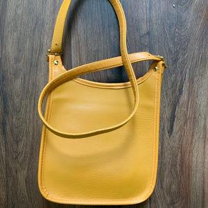 Yellow crossbody purse - casual fashion